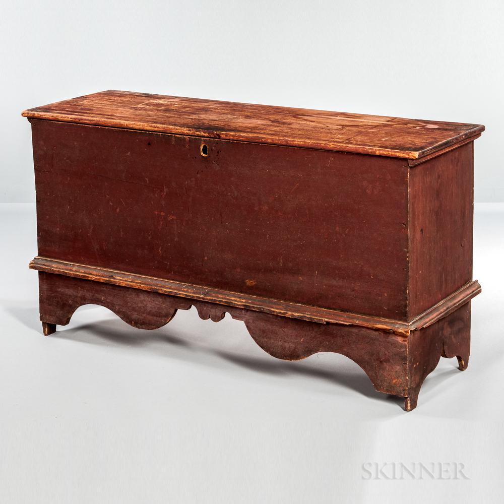 Early Red-painted Pine Blanket Chest
