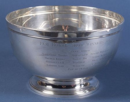 Tiffany & Co. Sterling Trophy Punch Bowl