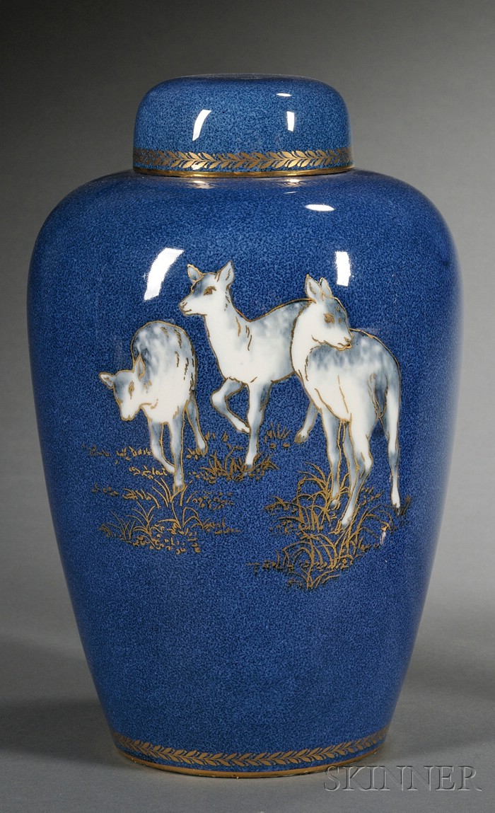 Wedgwood Powder Blue Lustre Malfrey Pot and Cover
