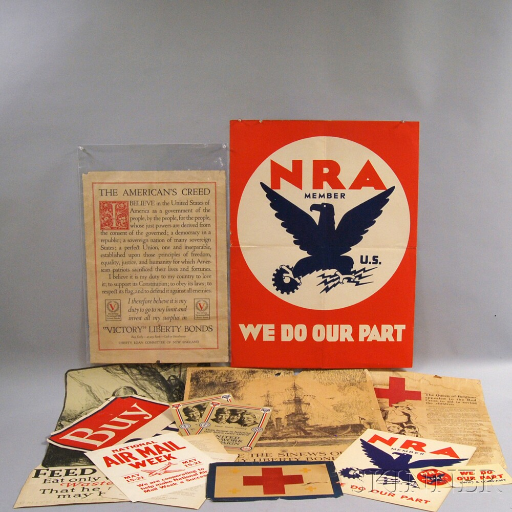 Group of WWI and NRA Posters