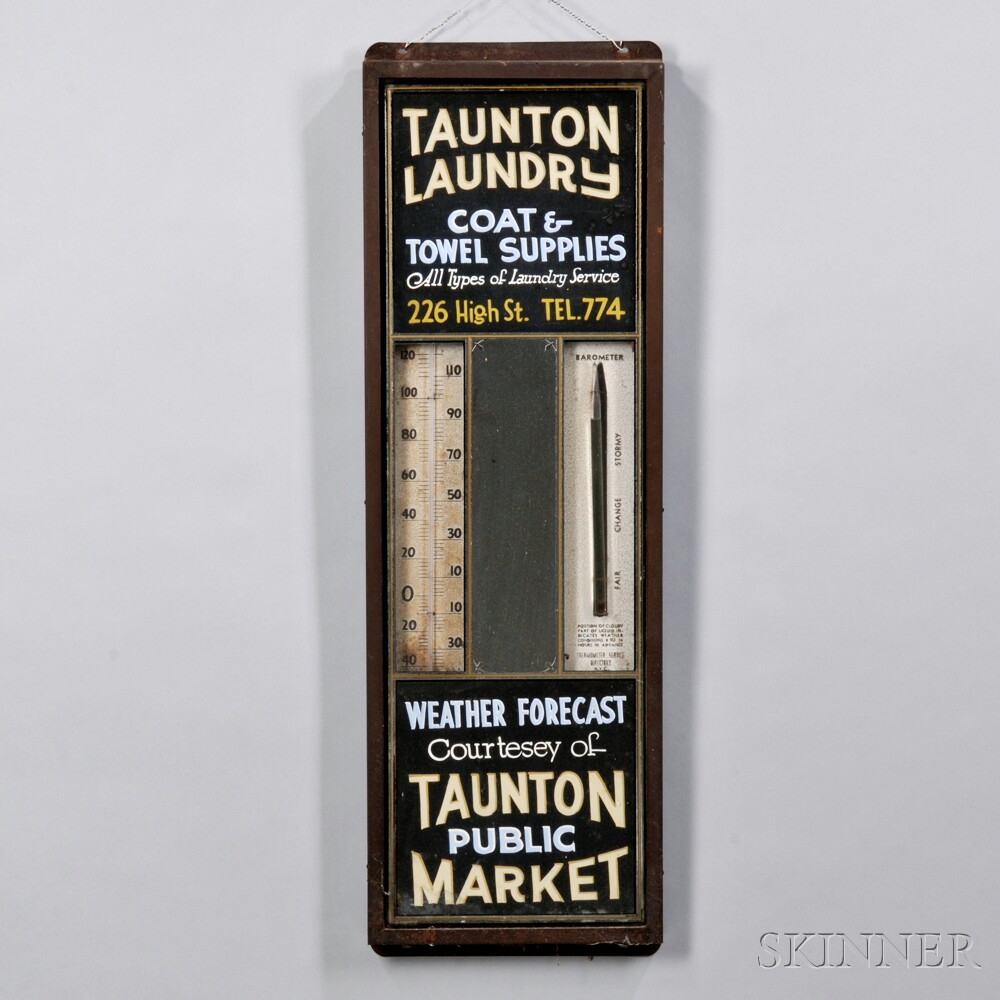 Taunton Laundry Weather Forecast Advertising Sign