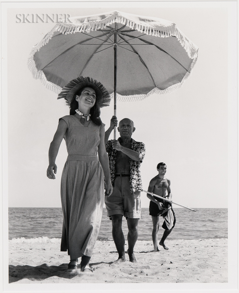 Robert Capa (Hungarian, 1913-1954)      Pablo Picasso and Françoise Gilot