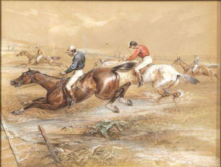 Thomas Hillier Mew (British, d. 1868)    Lot of Six Coursing Scenes.