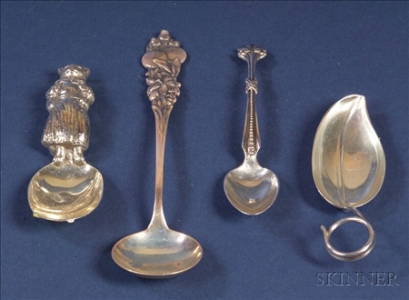 Four American Sterling Spoons