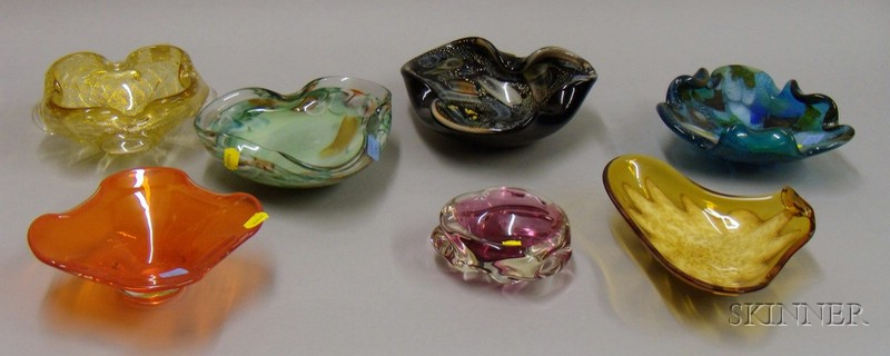 Seven Italian Art Glass Bowls