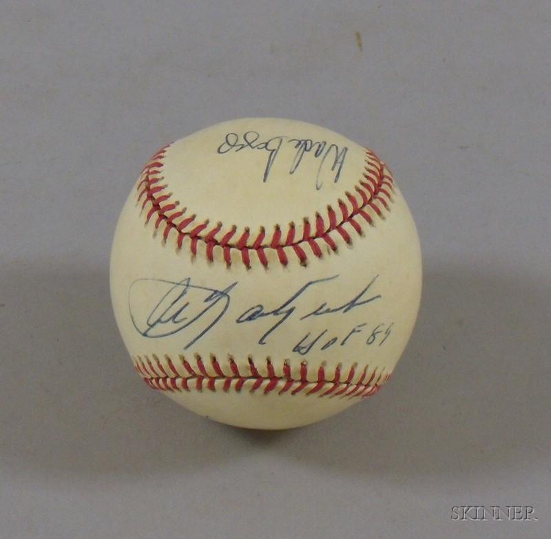Carl Yastrzemski, Wade Boggs, and Roger Clemens Autographed Baseball