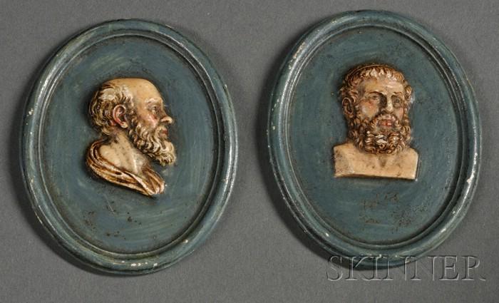 Two Wedgwood Stoneware Portrait Medallions