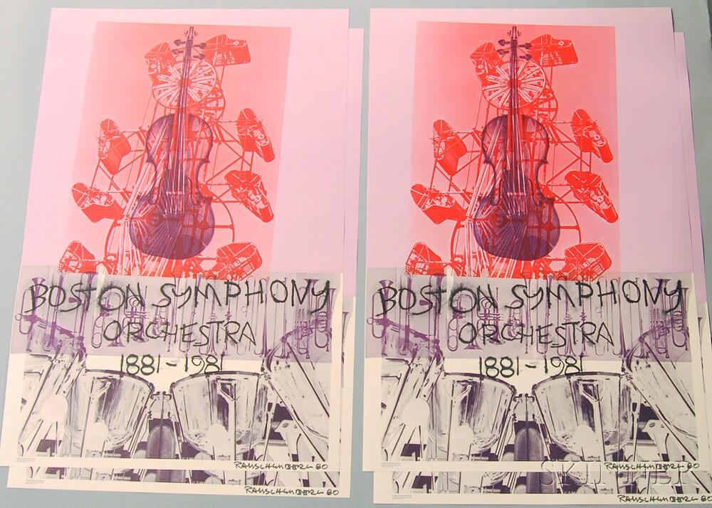 After Robert Rauschenberg (American, 1925-2008)      Eight Boston Symphony Orchestra Centennial Posters.