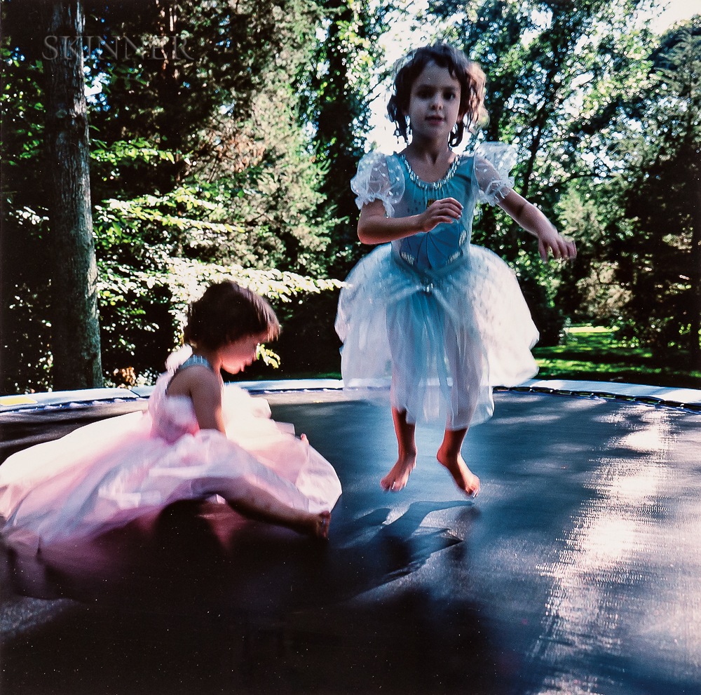 Nan Goldin (American, b. 1953)      Lily & Isabel on Trampoline