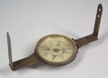 Important Brass Surveyor's Compass by David Rittenhouse