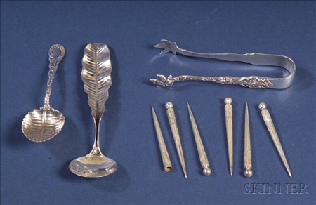 Eight American Sterling Flatware Articles