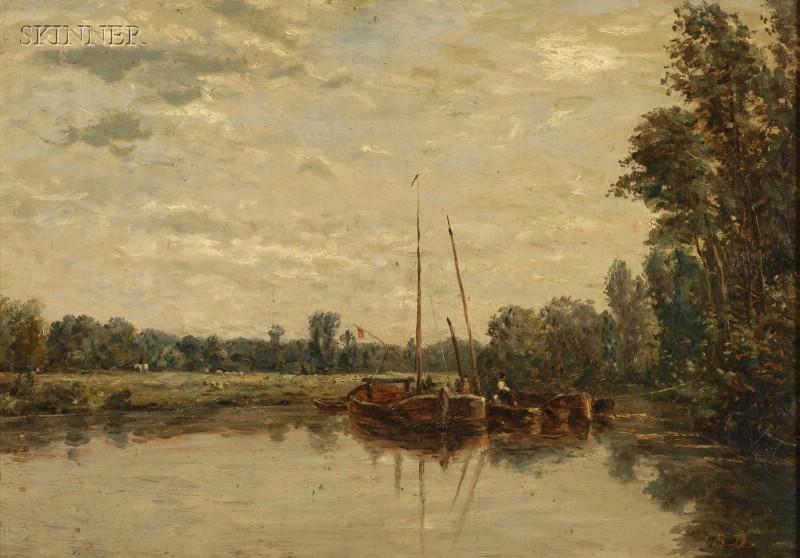 Dutch School, 19th Century      Ketches at River