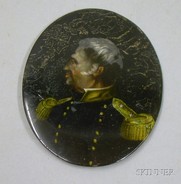 Portrait Miniature of a Two-Star General