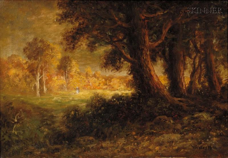 Elbridge Wesley Webber (American, 1841-1914)      Wooded Landscape