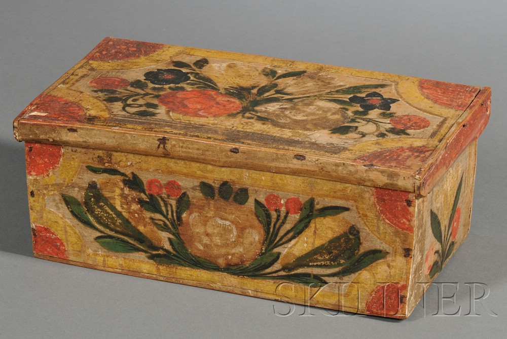 Paint-decorated Wood Box