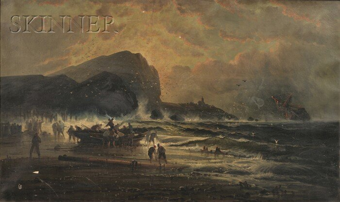 British School, 19th Century      After the Storm, Coast of Cornwall