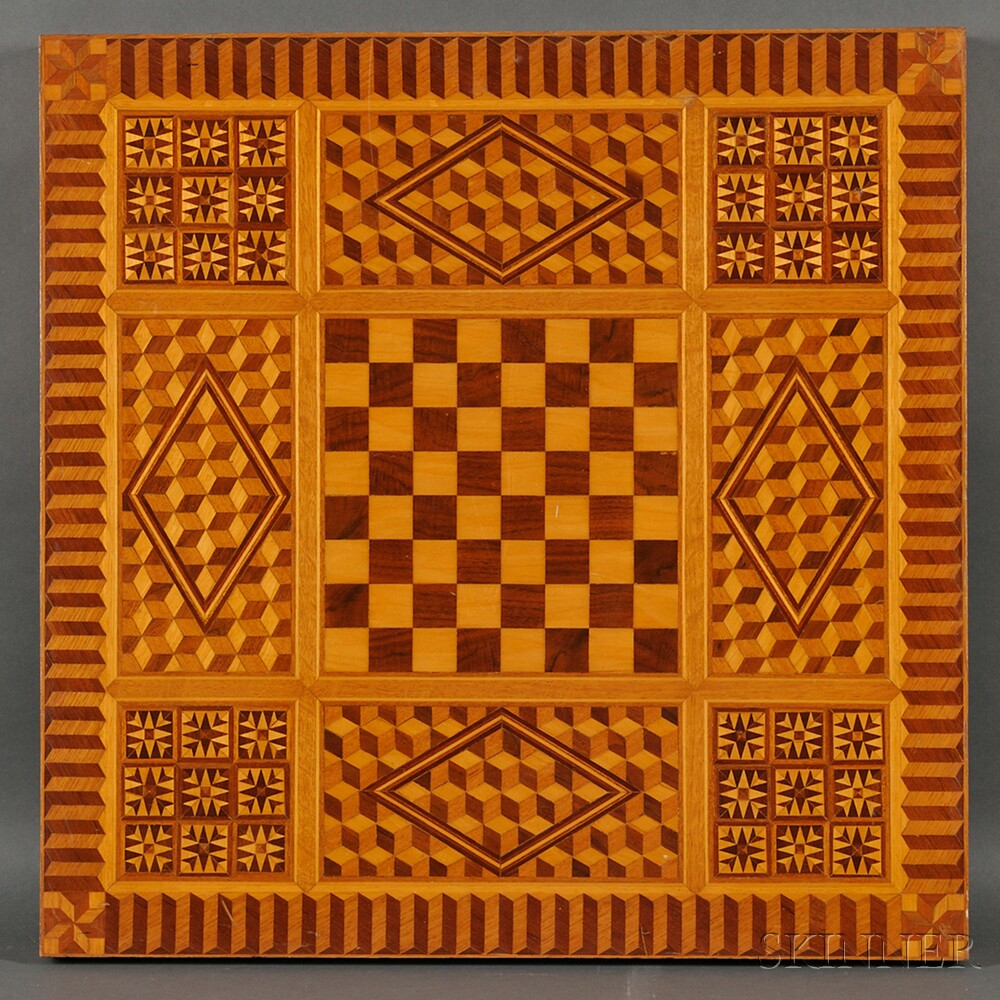 Marquetry-decorated Games Table