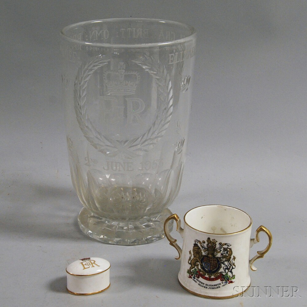 Three Queen Elizabeth Commemorative Items