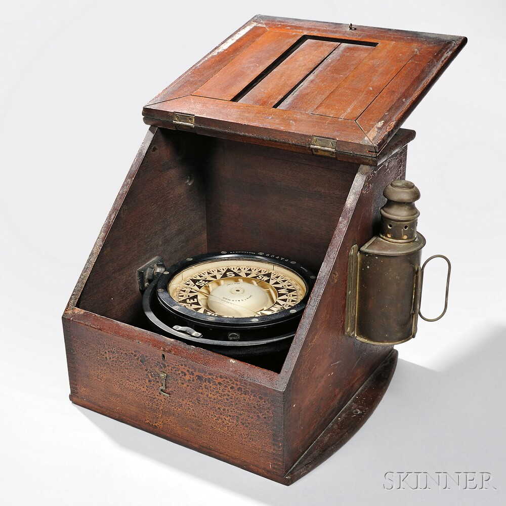 E.S. Ritchie & Sons Boxed Ship's Compass