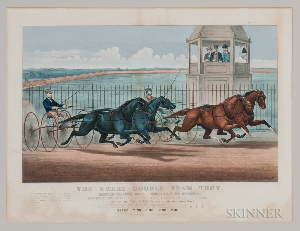 """""""The Great Double Team Trot""""   Large Folio Lithograph"""