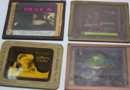 Eleven Magic Lantern Slides for Theatre Projection