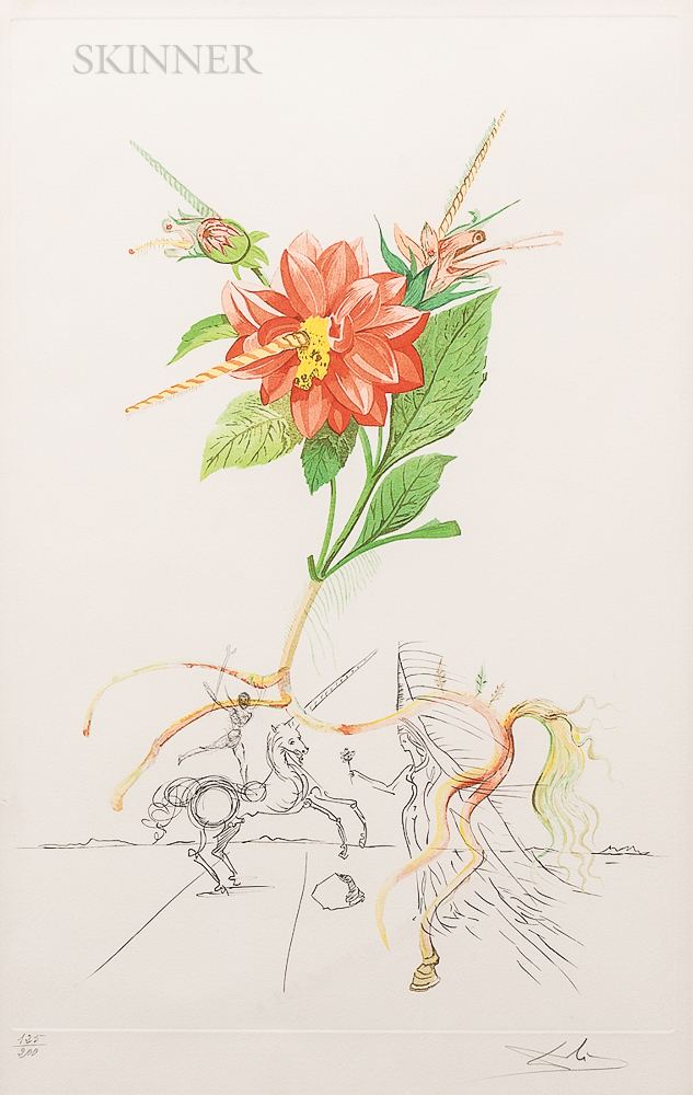 Salvador Dalí (Spanish, 1904-1989)      Dahlia unicornis