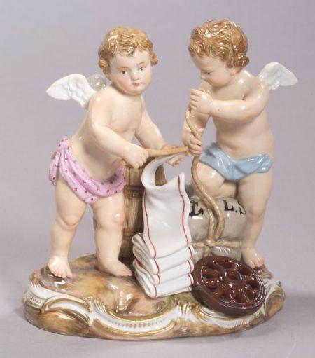 Meissen Porcelain Cherub Tradesmen Group