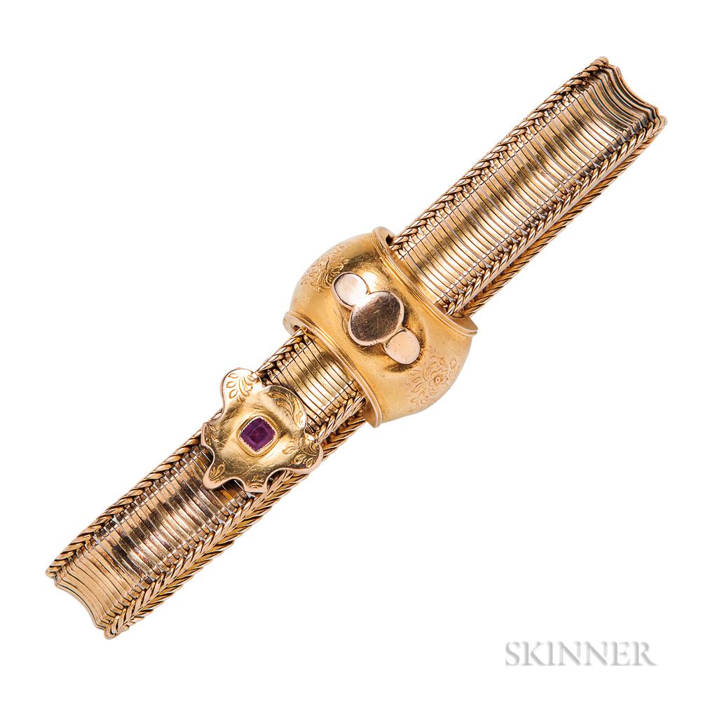 Victorian 15kt Gold Slide Bracelet