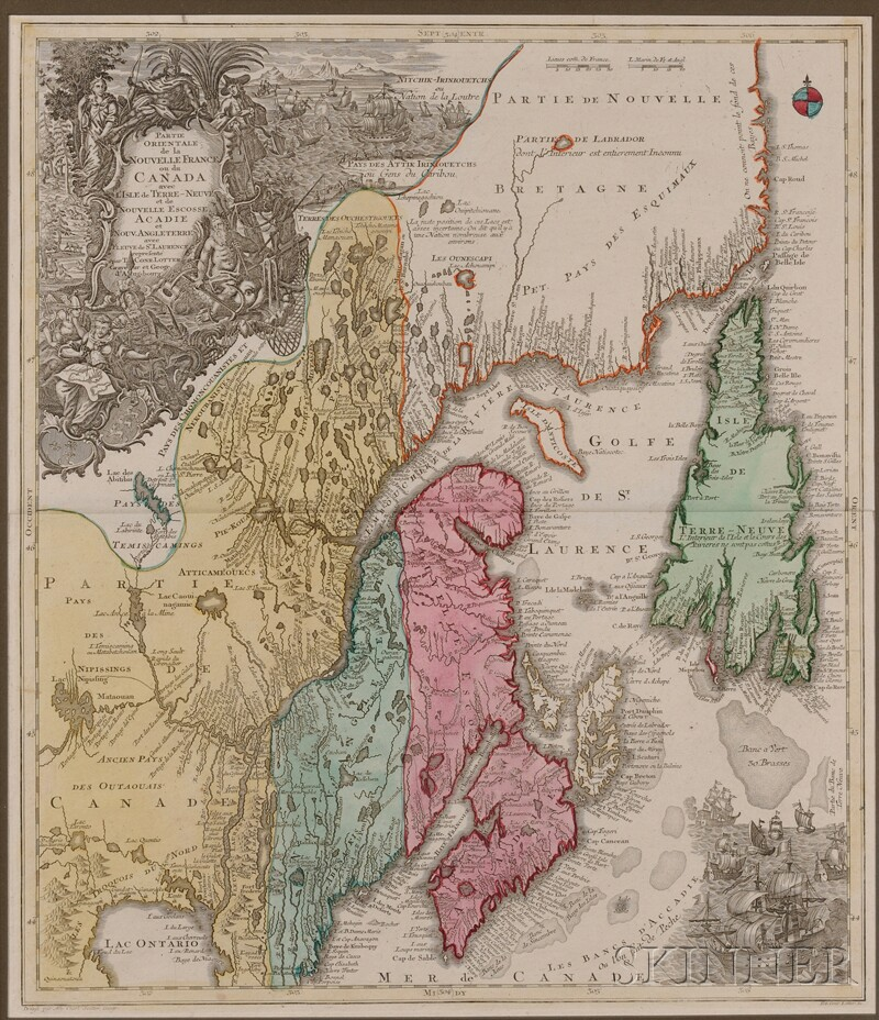 (Maps and Charts, North America), Seutter, Albrecht & Lotter, Tobias Conrad