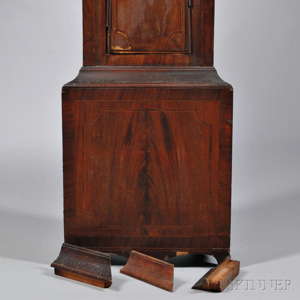 Simon Willard Mahogany Inlaid Tall Clock