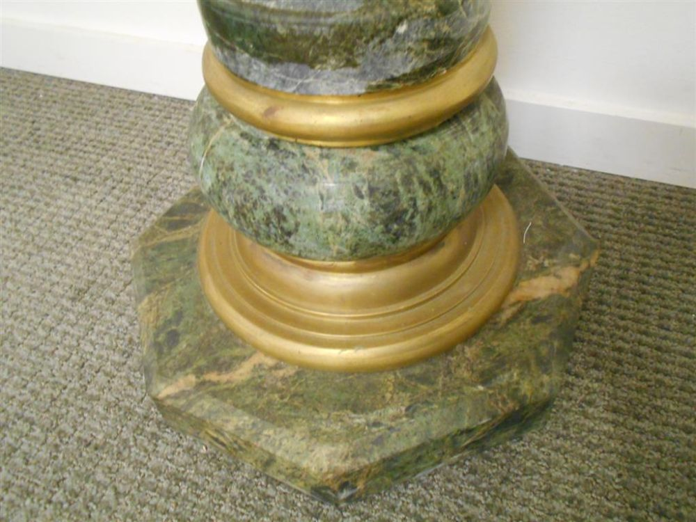 Pair of Continental Faux Marble Pedestals