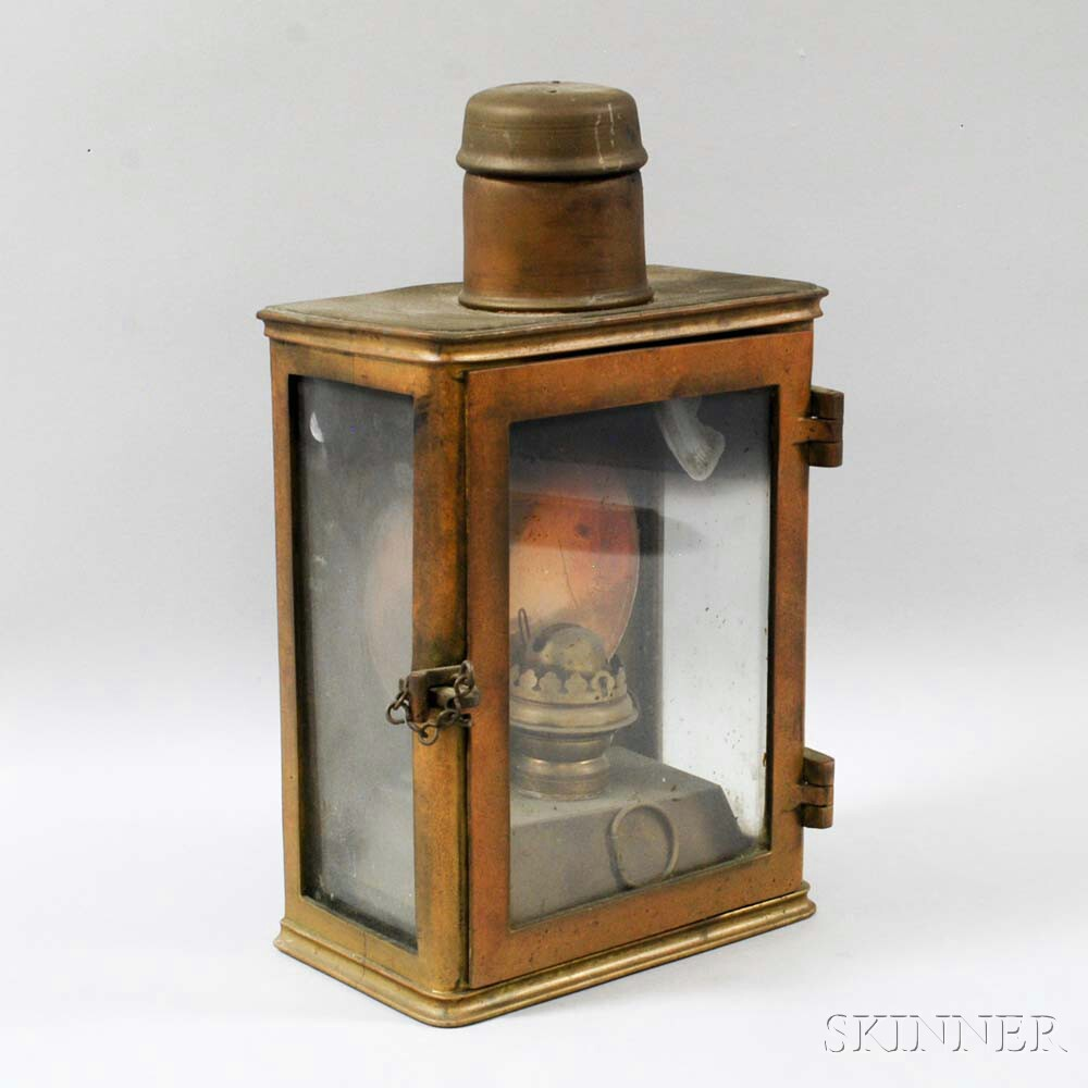 Brass and Glass Wheel Lantern