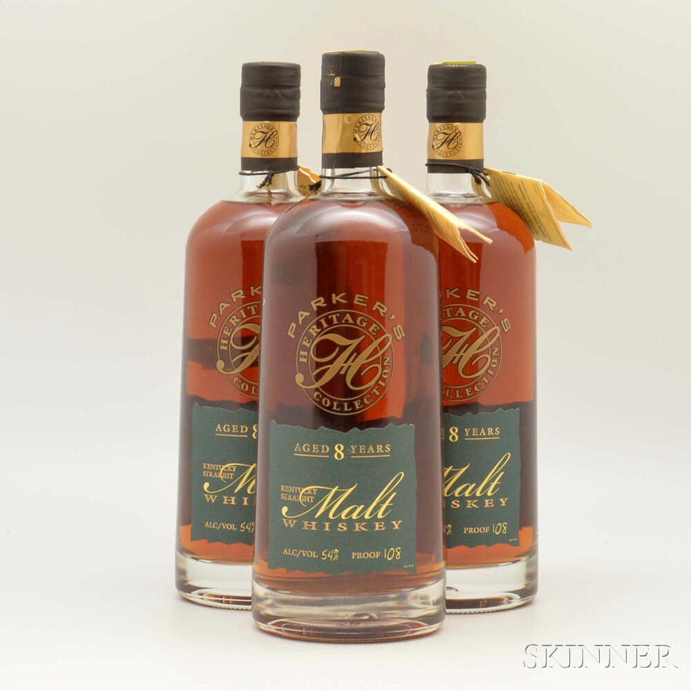Parkers Heritage Collection Malt Whiskey 8 Years Old, 3 750ml bottles