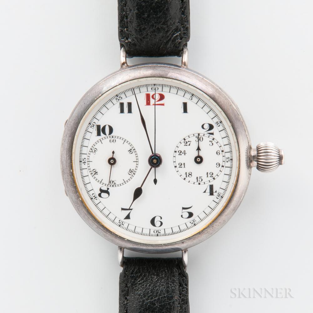 Early Silver Single-push Manual-wind Chronograph
