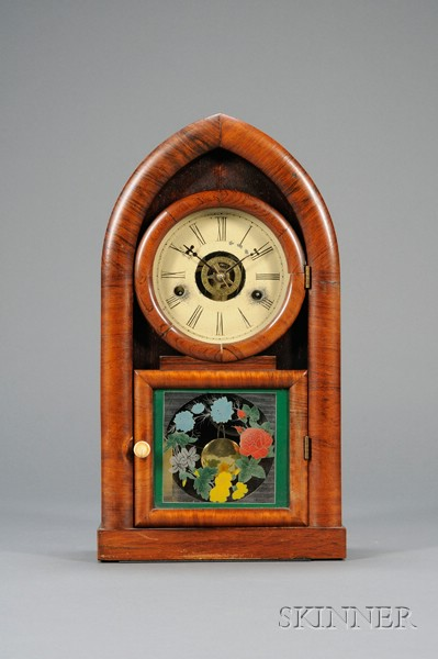 Miniature Rosewood Beehive Clock by J.C. Brown