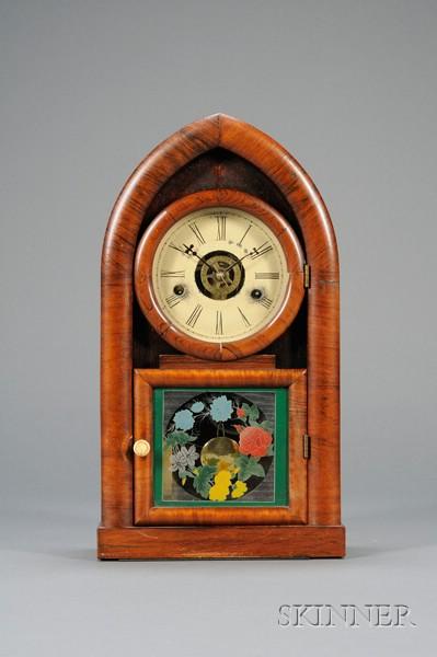 Miniature Rosewood Beehive Clock by J.C. Brown