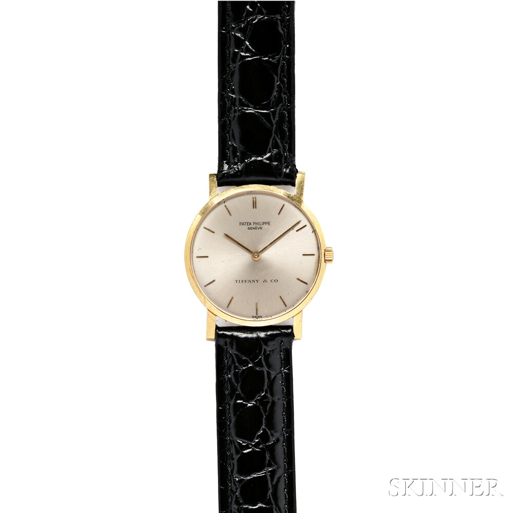 Gentleman's 18kt Gold Wristwatch, Patek Philippe, Tiffany & Co.