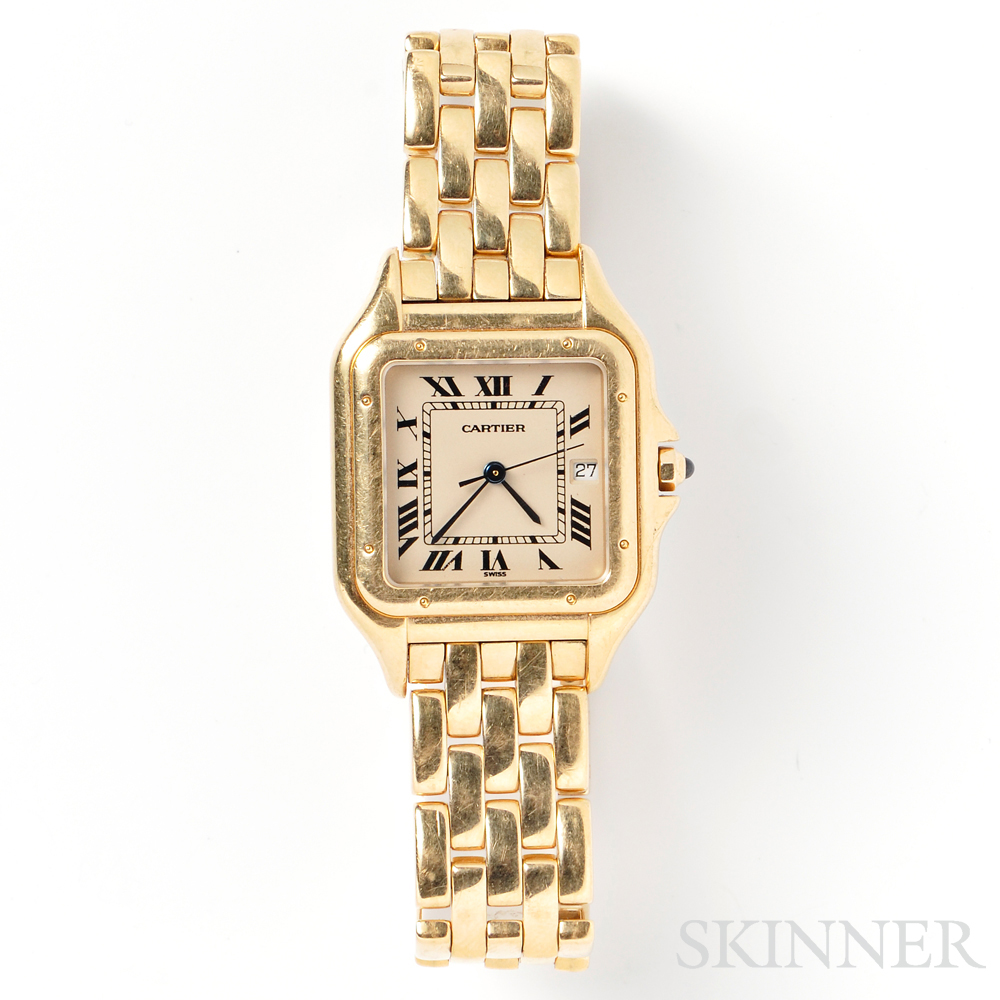 """18kt Gold """"Panthere"""" Wristwatch, Cartier"""