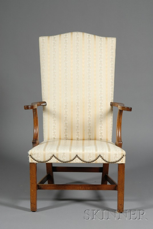 Federal Mahogany Upholstered Lolling Chair