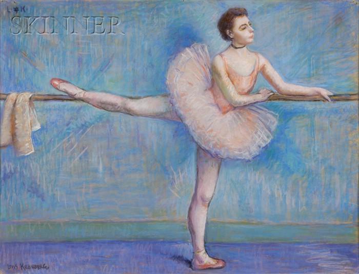 Louis Kronberg (American, 1872-1965)      No. 1.  Dancer in Rose at the Barre