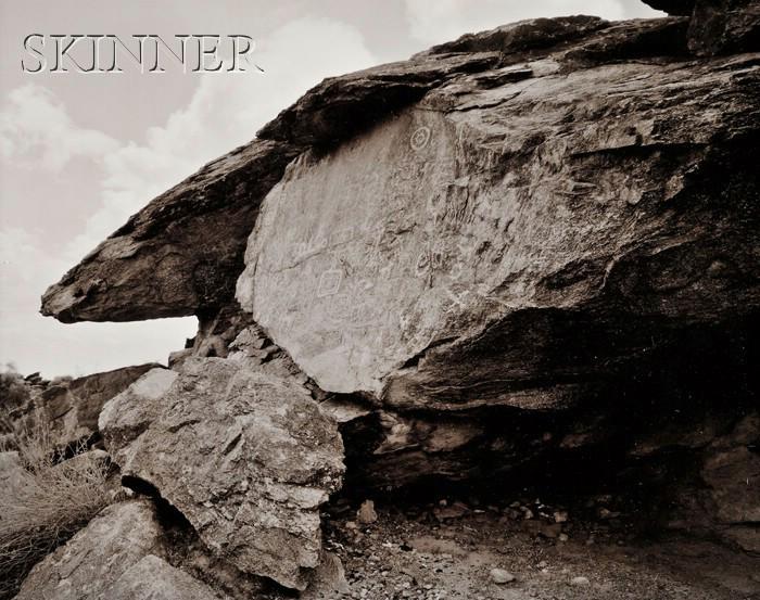 Linda Connor (American, b. 1944)      Lot of Three Images of Petroglyphs:  Great Valley, Horseshoe Canyon, Utah