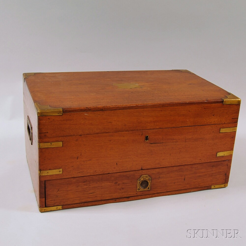 Brass-bound One-drawer Medical Chest