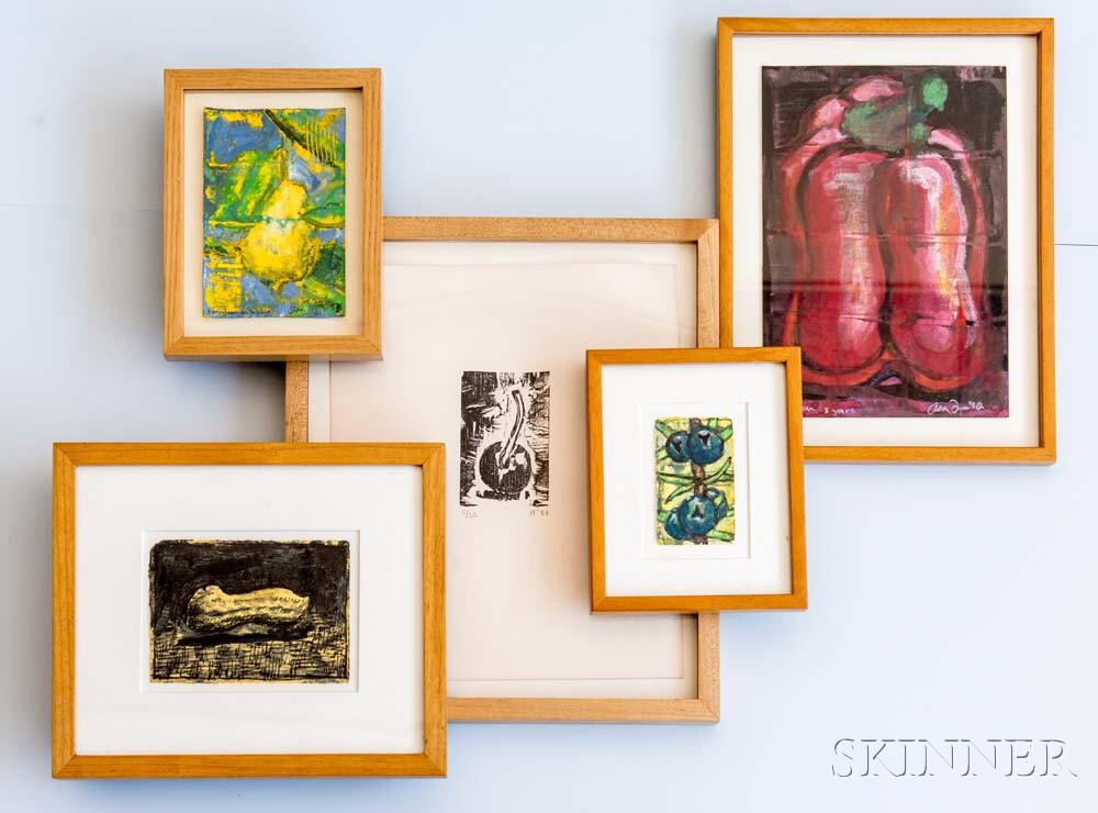 Aaron Fink (American, b. 1955)      Five Works Depicting Fruit and Vegetables