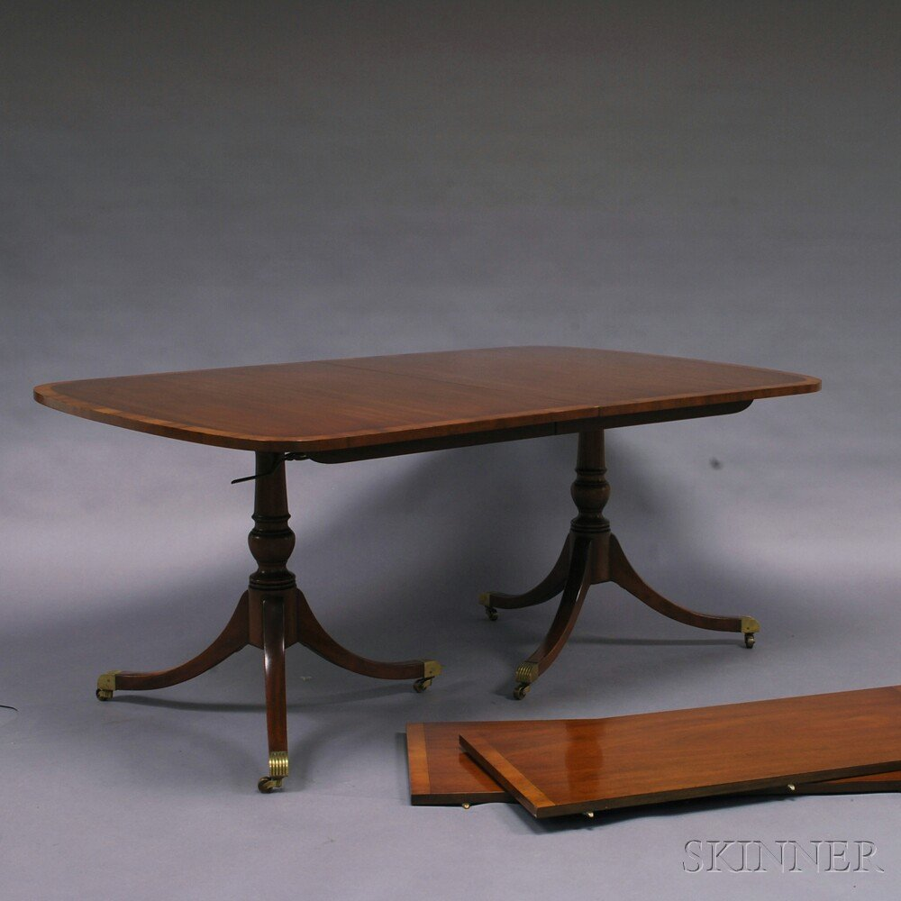 Kittinger Mahogany Double-pedestal Dining Table