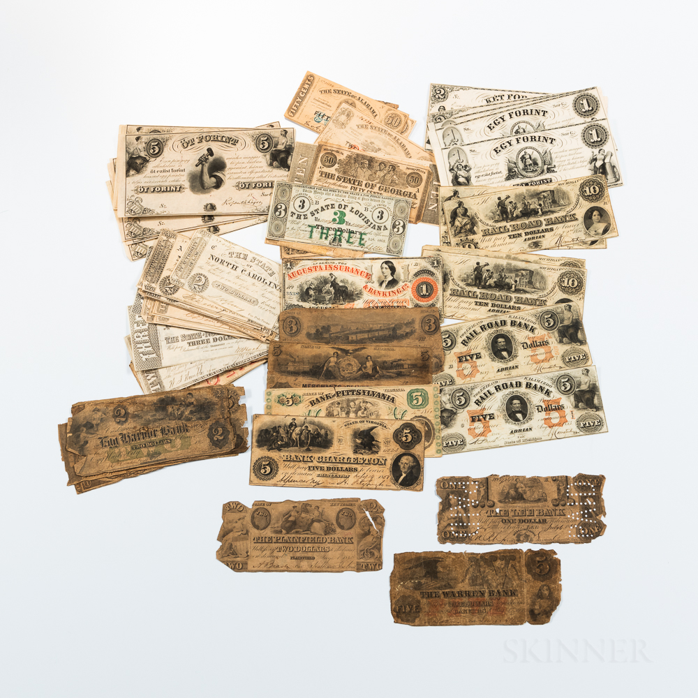 Large Group of Obsolete and South States Bank Notes