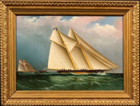 Attributed to James E. Buttersworth (Anglo/American, 1817-1894)    Dauntless