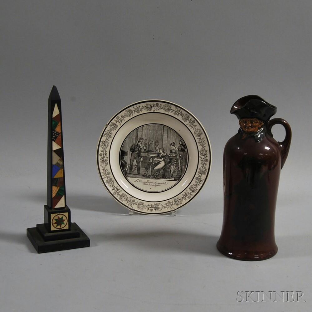 Three Ceramic and Stone Decorative Items