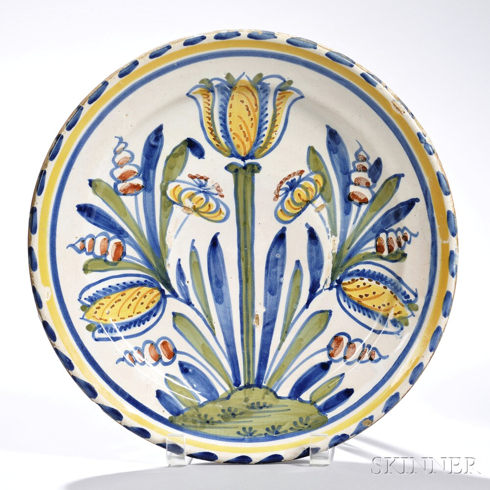 Tin-glazed Earthenware Tulip   Dish
