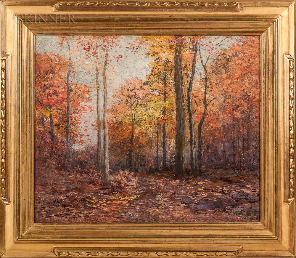 Daniel Kotz (American, 1848-1933)      Autumn Landscape.
