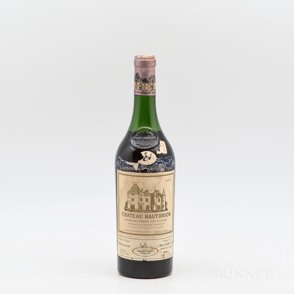 Chateau Haut Brion 1962, 1 bottle